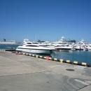 Круизные лайнеры у Северного мола морского вокзала Сочи.