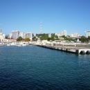 Вид на Сочи с акватории морского вокзала.