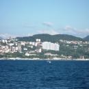 Вид на курорт Сочи с моря. Морская прогулка.
