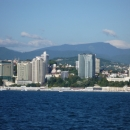 Приморская набережная Сочи. Вид с моря.