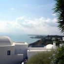 Вид на окрестности города Тунис с холма курорта Сиди-Бу-Саид.