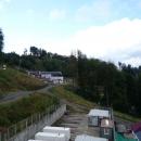 Горнолыжные склоны курорта Роза Хутор летом.