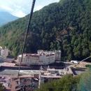 Вид на горнолыжный курорт Роза Хутор летом.