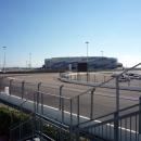 Вид на Ледовую арену «Шайба». Олимпийский парк Сочи.