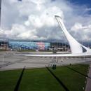 Музыкальный фонтан на центральной площади в Олимпийском парке.