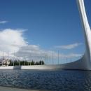 Фонтан Чаша Олимпийского огня в Олимпийском парке Сочи.