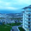Вид с корпуса Сочи Парк Отеля на Олимпийский парк в ноябре.