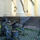 У стен Художественного музея играет «Квартет». Сочи.