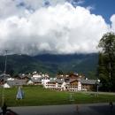 Горная Олимпийская деревня на курорте «Роза Хутор». Сочи.