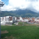 Курорт «Роза хутор». Вид на Горную Олимпийскую деревню. Сочи.