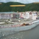 Река Мзымта на горнолыжном курорте «Горки-Город» в Сочи.