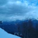 Вид на горную Олимпийскую деревню. Сочи.