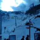 Трассы горнолыжного Сочи в ноябре.