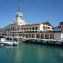 Морской вокзал Сочи — архитектурный шедевр Сочи.