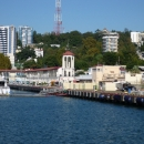 Западный мол морского вокзала Сочи.