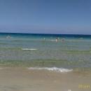 Песчаные пляжи курорта Сусс в Тунисе. Залив Хаммамет. Средиземное море.
