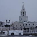Вид на Спасскую башню со стороны Казанского кремля.