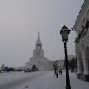 Спасская башня Казанского кремля зимой.