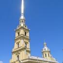 Петропавловская церковь на территории Петропавловской крепости в Санкт-Петербурге.