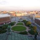 Санкт-Петербург с колоннады Исаакиевского собора.