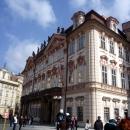 Дворец Гольц-Кинских в стиле рококо на Староместской площади в Праге. Чехия.