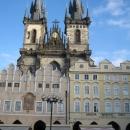 Готический Храм Девы Марии перед Тыном на Староместской площади в Праге. Чехия.