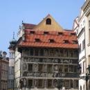 Дом «У минуты» (в детстве жил Кафка) на Староместской площади в Праге. Чехия.