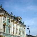 Западный фасад Зимнего дворца со стороны Адмиралтейства. Санкт-Петербург.