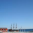 Вид на Черное море у парка имени Фрунзе. Сочи.