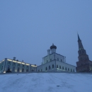 Комплекс Президентского дворца на территории Казанского кремля: Губернаторский дворец, Дворцовая церковь, башня Сююмбике.