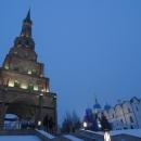 Башня Сююмбике и Благовещенский собор в Казанском кремле.
