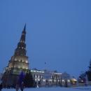 Президентский дворец и башня Сююмбике на территории Казанского кремля.