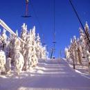Бугельный подъемник на горнолыжном курорте Тахко(Tahko) в Финляндии