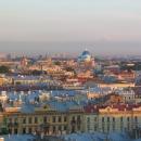 Вид на купола Троице-Измайловского Собора. Санкт-Петербург.