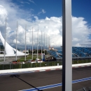 Вид на Олимпийский парк. Сочи (Адлер).