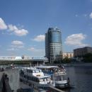 Причалы на Москве-реке для водных прогулок на теплоходах, катерах, речных трамвайчиках.