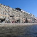 Набережная реки Фонтанки в Санкт-Петербурге.