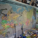 Поезд-Музей «РЖД». Карта железных дорог и заповедников России.