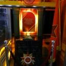 Вечный огонь в вагоне «Путь к победе» в поезде-музее «РЖД».