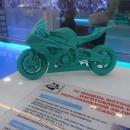 Модель мотоцикла, изготовленного на 3D принтере. ПВЛК «РЖД».