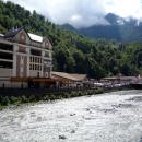 Курорт Роза Хутор в горном Сочи.