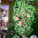 Маршрут движения электромобиля в Верхнем парке по «Дендрарию» в Сочи.