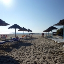 Пляжи курорта Сусс на Средиземном море. Залив Хаммамет. Тунис.