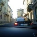 На улицах Варезе. Архитектура г.Варезе из окна автомобиля.