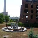 Стелла-штык и фонтан «Детский хоровод» в Волгограде.