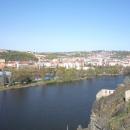 Панорама Праги со смотровой площадки в Вышеграде. Чехия.