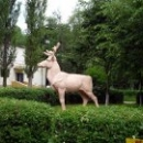 Липецкий зоопарк скульптура «Олень».
