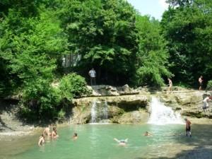 Водопады на реке Жане