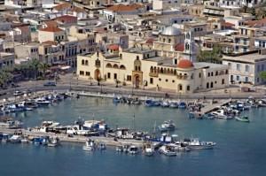 город Потия, остров Калимнос, Кос, Греция