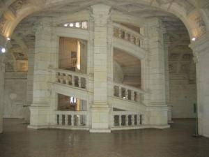 Лестница Леонардо да Винчи, замок Шамбор